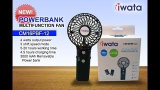 Iwata Portable Fan CM16PBF 12