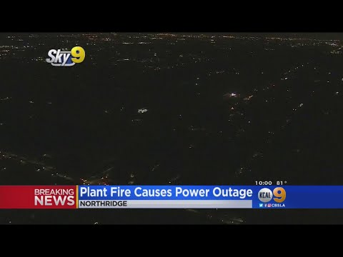 Plant Fire Causes Power Outage