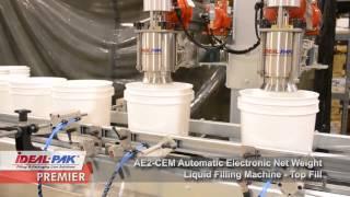 Ideal-Pak AE2-CEM Automatic Electronic Net Weight Liquid Filling Machine
