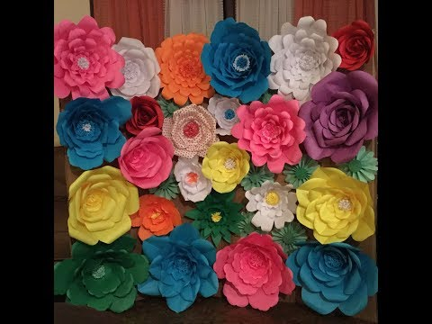SHORT DIY - PAPER FLOWER BACKDROP (WEDDING, PARTY, BABY SHOWER, PHOTO SHOOT)