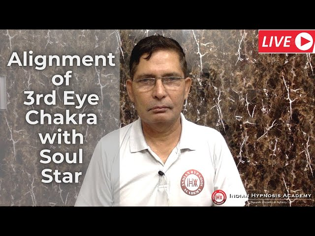 Alignment of 3rd Eye Chakra (आज्ञा चक्र) with soul star in Hindi (हिंदी)
