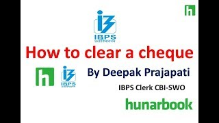 How to clear a cheque in bank