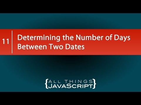 Determining The Number Of Days Between Two Dates