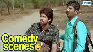 Drama Comedy Scenes - Kannada Comedy - Yash, Satish, Radhika Pandith