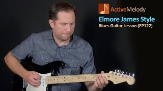 Elmore James Style Guitar Lesson - Simulated Slide Blues Guitar Lesson - EP122
