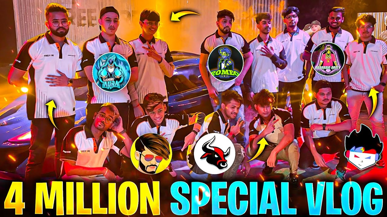 4M Special MeetUp With All Indian Youtubers Garena Free Fire*Mclaren Car Shoot 😱 - Garena Free Fire