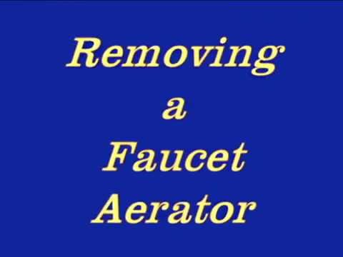 Bathroom Faucet Aerator Removal removing faucet aerator - youtube