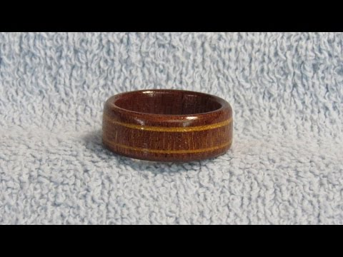 #123 DIY Woodturning a Mahogany Ring