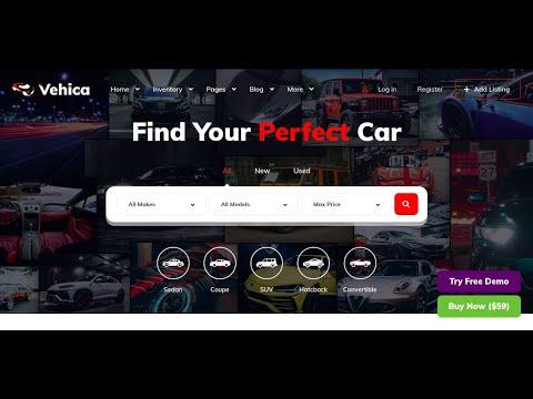 Automotive car dealership wordpress theme