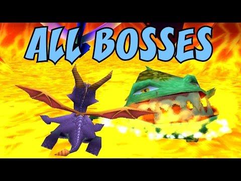 Spyro 1, 2 and 3 - ALL Bosses (No Damage)