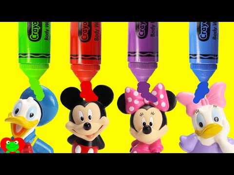 Mickey Mouse Club House Friends Dive for Surprise Treasures LEARN Colors Crayola Bath Soap