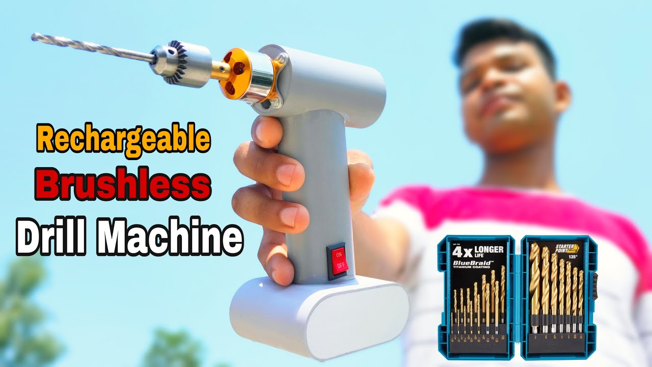 How To Make Drill Machine || From Brushless DC motor Rechargeable Brushless Drill Machine At Home