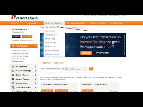 How to add a payee + transfer money from ICICI to other bank