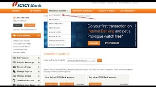 vuclip How to add a payee + transfer money from ICICI to other banks online using netbanking