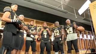 Behind the scenes of Towson Football's intro video shoot
