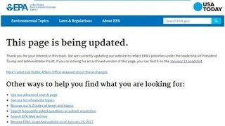 EPA Removes Page With Data On Climate Science