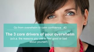 The 3 core drivers of your overwhelm (aka the reasons you feel bad about yourself)