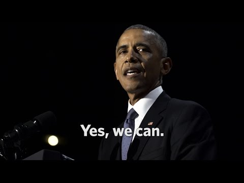 The Final Minutes of President Obamas Farewell Address: Yes, we can