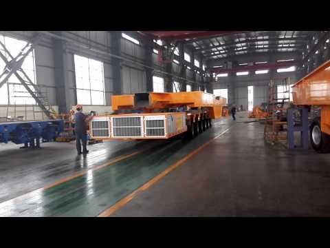 SPMT's self-propelled modular trailer  www.ruiqianhe.com