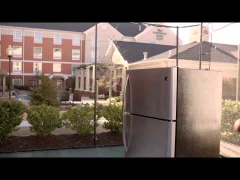 Can You Slam Dunk Over a Hotel Room Fridge?