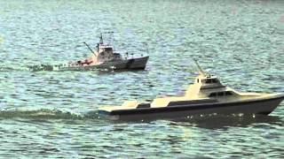 Scale fast supply vessel and Island class cutter