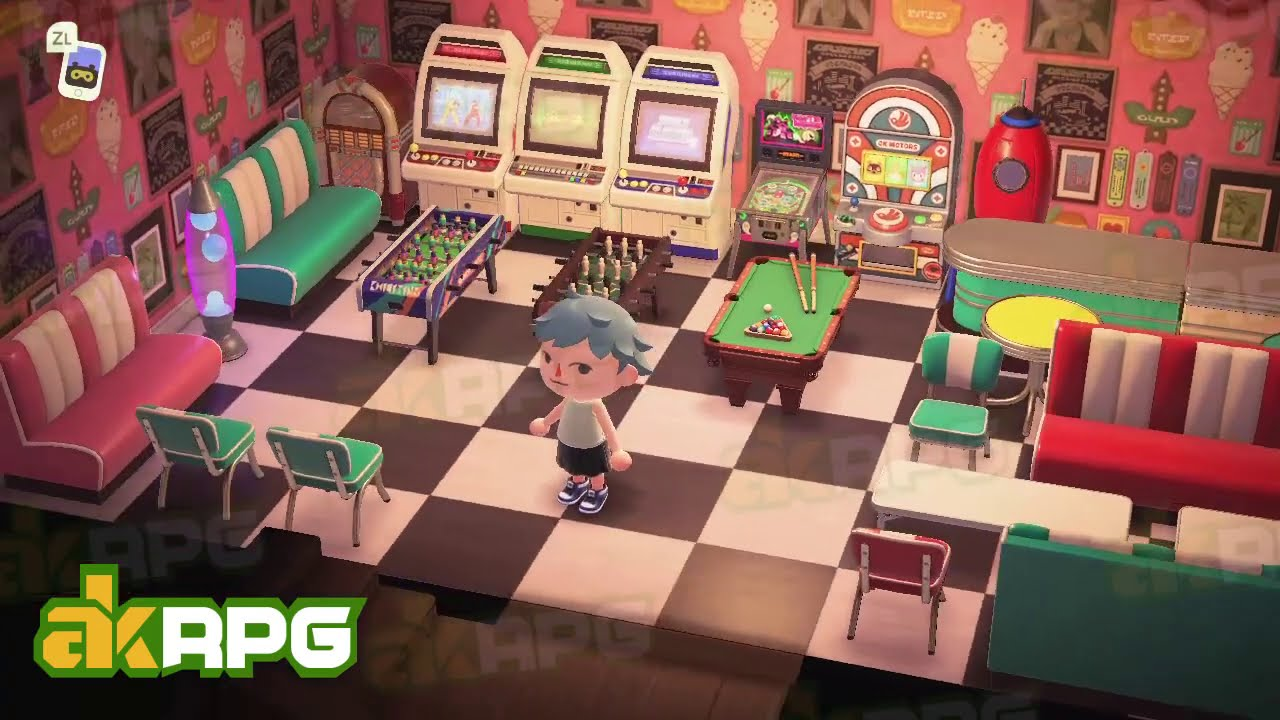 Great Acnh Recreation Room Play Room Design Best Animal Crossing Design Ideas