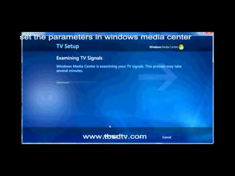 How To Use TBS5922 USB TV Tuner To Watch TV On Windows Media Center
