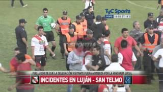 Graves incidentes entre Luján y San Telmo