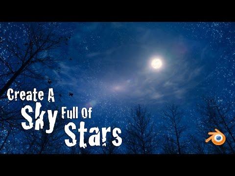 Create a Beautiful Sky Full of Stars - Blender Tutorial
