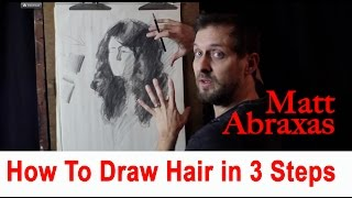 How To Draw Hair In 3 Steps - Matt Abraxas