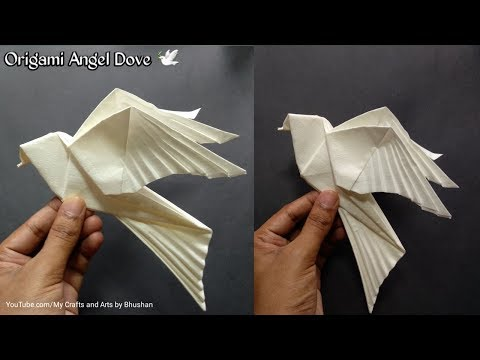 How to make an origami Dove 🕊? || Origami Angel Dove 🕊