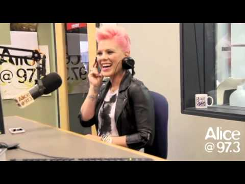 P!nk interview at Alice 97.3 radio