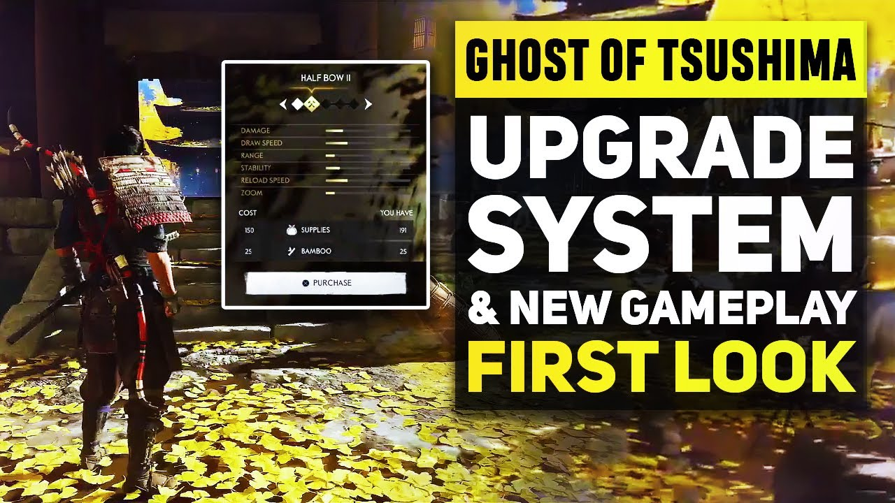 Ghost of Tsushima - First Look at Upgrade System & New Combat Gameplay | Ghost of Tsushima Huge