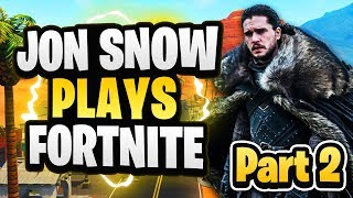 Jon Snow plays Fortnite Part II (French kid gets upset)