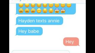 Hayden is jealous of Brennan taking Annie from him text messages