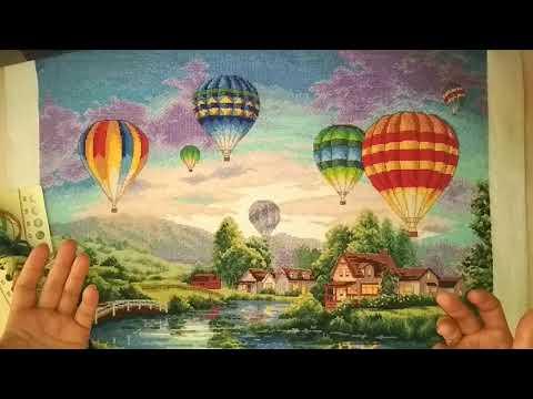 готовый отшив по Китайскому набору для вышивки крестиком Balloon Glow (Воздушные шары)