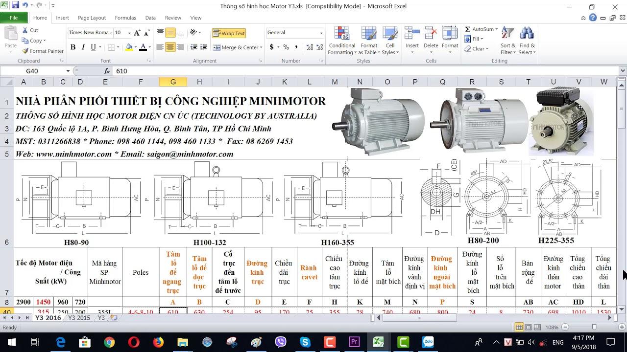 Bản vẽ kỹ thuật động cơ điện 315 kw 430 HP 1400-1500 vòng phút, MINHMOTOR 0968140191.