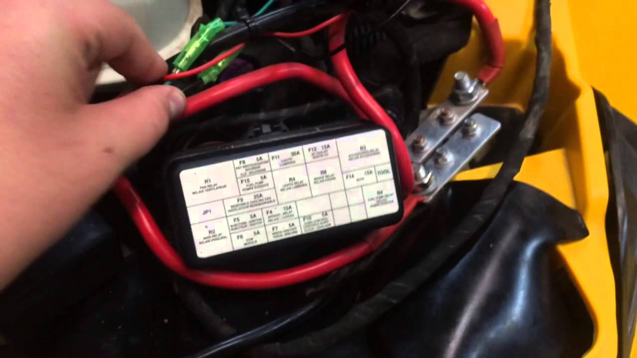 maxresdefault wiring a superwinch to a can am renegade! youtube can am commander winch wiring diagram at metegol.co