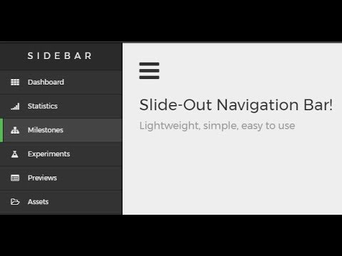 How To Create A Animated Sidebar Menu Using HTML, CSS & JavaScript.