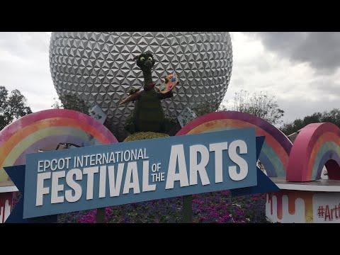 Epcot Art Festival! ride POV, Brunch at Chef Mickey's much more fun