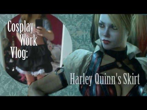 Cosplay Work Vlog: Harley Quinn's Skirt (Arkham Knight)