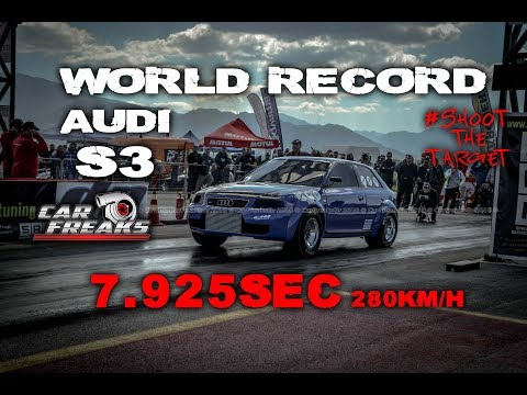Audi S3 World Record 7,925sec @ 280km/h   Car Freaks Gr