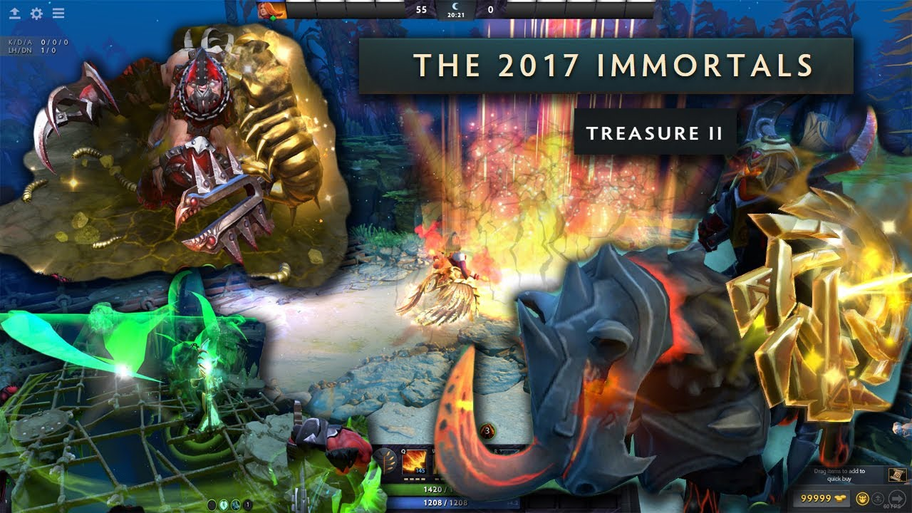 Immortal Treasure Ii Dotafire: Immortal Treasure II 2017 Battle Pass Golden Immortal