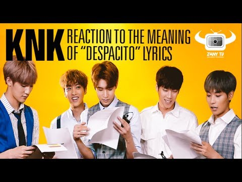 (ESP/PORT/ENG SUBS) KNK REACTING TO THE MEANING OF DESPACITO