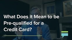 What Does It Mean To Be Prequalified For A Credit Card? – Credit Card Insider