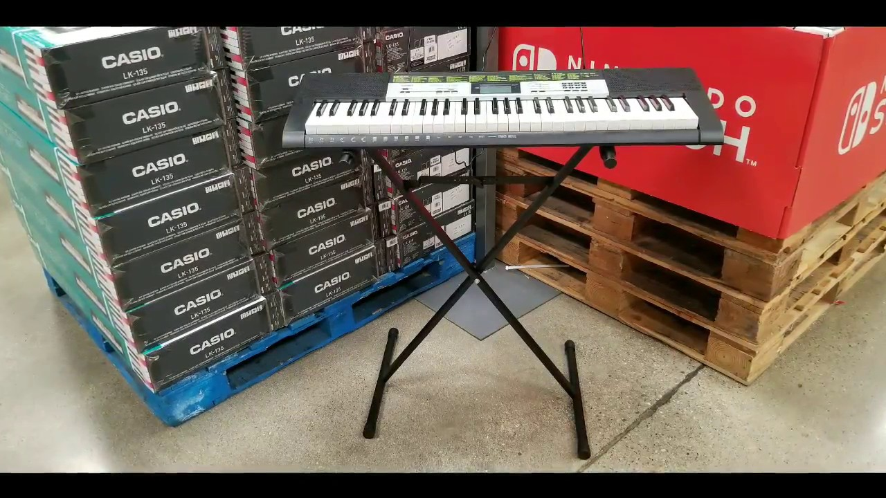 costco casio lk 135st lighted keyboard digital piano 99 youtube. Black Bedroom Furniture Sets. Home Design Ideas