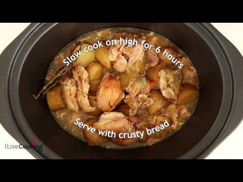 Slow Cooker White Wine Chicken Casserole