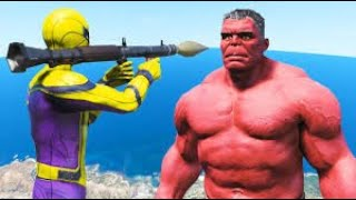 GTA V Water Ragdolls BANE VILLAIN VS SPIDERMAN. GTA 5 Superhero Battle Euphoria Physics & Jump