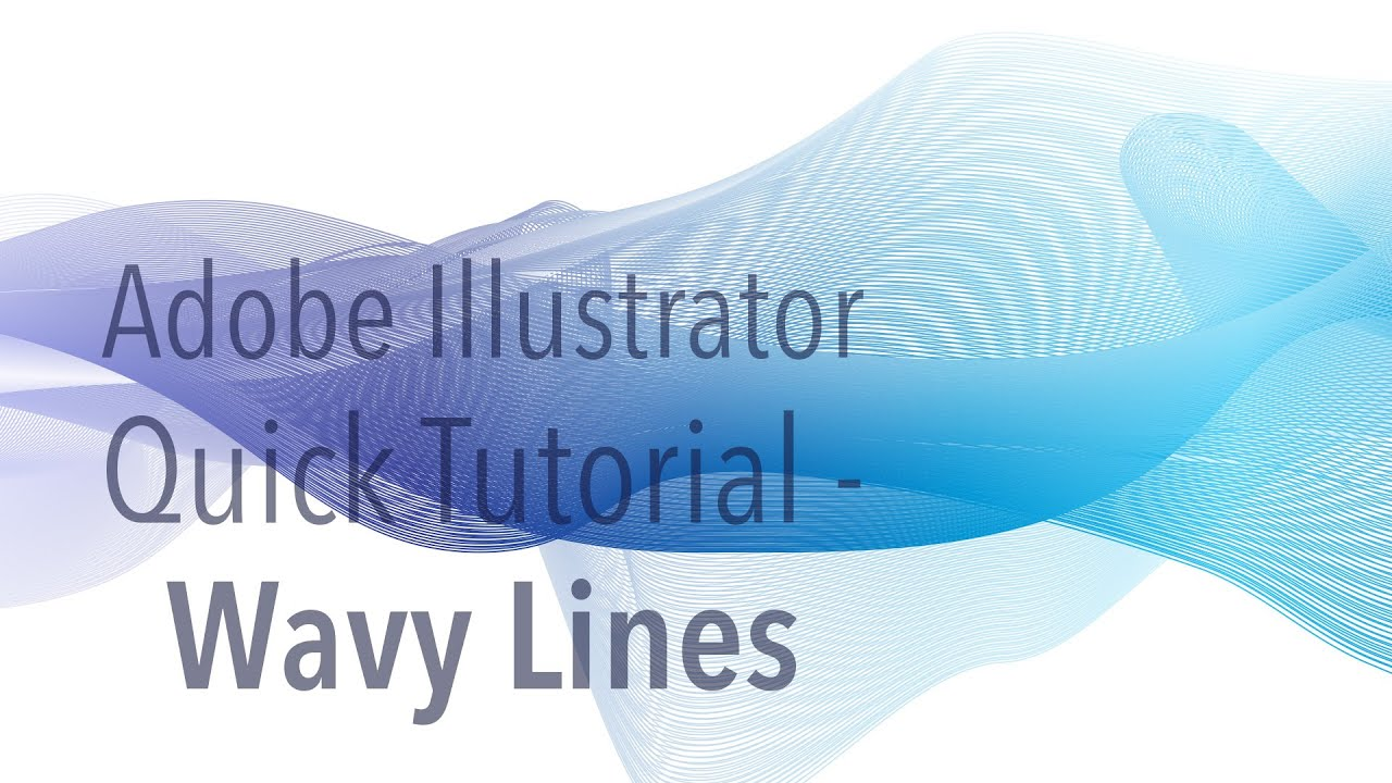 How To Smooth Drawing Lines In Illustrator : Illustrator tutorial wavy lines youtube