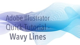 Illustrator Tutorial - Wavy Lines